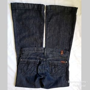 7 FAMK Dojo Flare Dark Wash Trouser Jeans